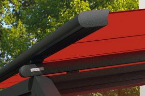 Detailansicht Außenmarkise von Sunhouse Modell Markilux