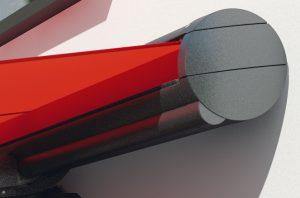 Modell Markilux in rot Detailansicht Außenmarkise von Sunhouse