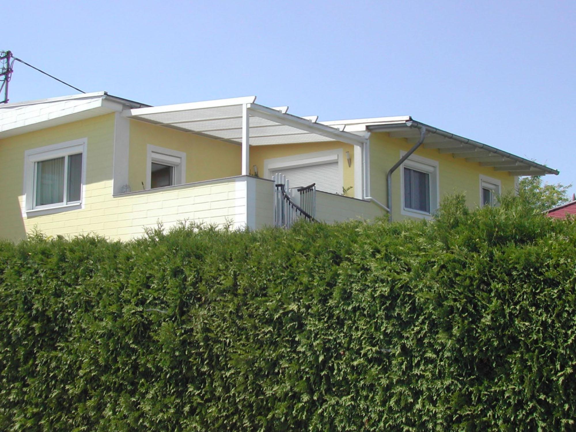 Terrassendach - Classic von Sunhouse Wintergärten in weiß