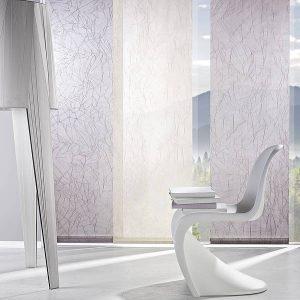Flächenvorhänge in weiß mit Muster von Leha