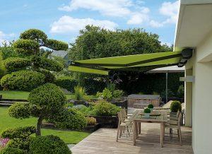 Gelenksarmmarkisen - freitragend in grün von Sunhouse